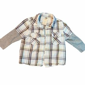 ✨3 for $30✨ Toddler Boys plaid Flannel (2T)